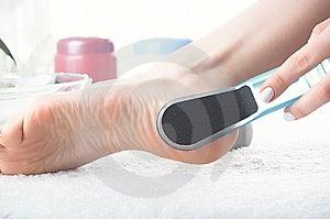 Washing Of A Female Leg Royalty Free Stock Photography - Image: 8634697