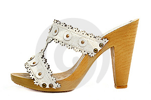 Single Woman Shoes Royalty Free Stock Photos - Image: 8635338