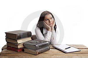 Business Woman Dreaming Royalty Free Stock Photo - Image: 8635525