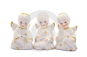 Three Porcelain Angels Stock Images - Image: 8635574