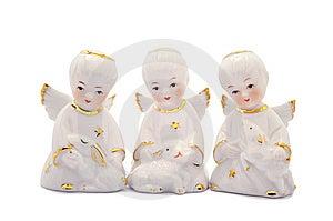 Tres ángeles De La Porcelana Imagenes de archivo - Imagen: 8635574
