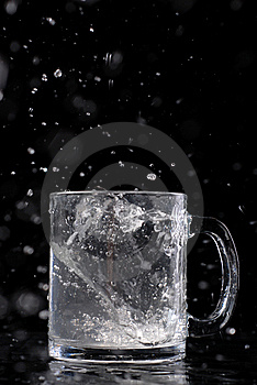 Glass With Water Royalty Free Stock Photography - Image: 8635697