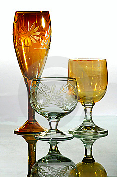 Drinking Glasses Royalty Free Stock Image - Image: 8635826