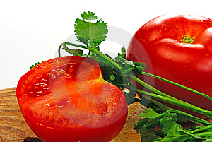 Tomato And Coriander Royalty Free Stock Images - Image: 8635839