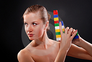 Woman With Toy Gun Stock Image - Image: 8636011