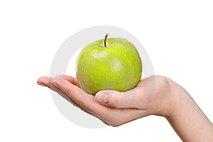 Fresh Green Apple Royalty Free Stock Photos - Image: 8636018
