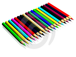 Crayons Colorés Photo stock - Image: 8636100