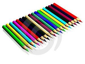 Barwioni Ołówki Zdjęcie Stock - Obraz: 8636100