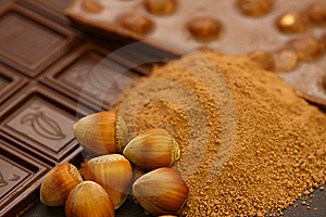 Chocolate And Peanuts Stock Image - Image: 8636121