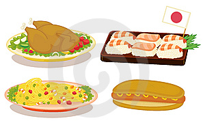 International Cuisine Stock Image - Image: 8636161