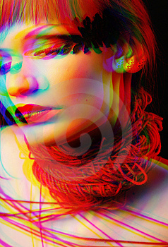 Woman With Red Clew Royalty Free Stock Photo - Image: 8636215