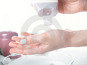 Washing Of A Female Hands Royalty Free Stock Image - Image: 8636296