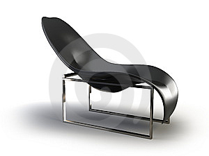 Black Modern Chair Stock Photo - Image: 8636580