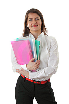 Smiling Young Business Woman Stock Image - Image: 8636711