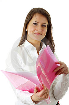 Smiling Young Business Woman Stock Photography - Image: 8636712