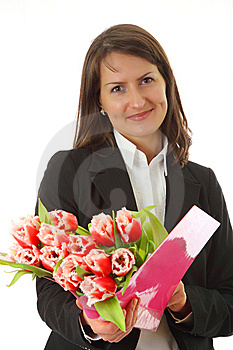 Smiling Young Business Woman Stock Image - Image: 8636761