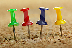 Pushpins Royalty Free Stock Photo - Image: 8636815