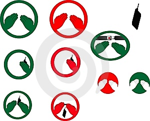 Hands Free Symbols Royalty Free Stock Photo - Image: 8637005