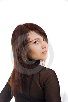 Pretty Brown-haired Person Royalty Free Stock Photos - Image: 8637528