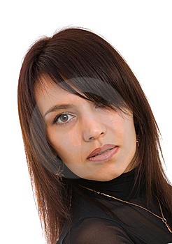 Pretty Brown-haired Person Royalty Free Stock Photography - Image: 8637547