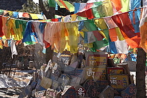 Prayer Flag Royalty Free Stock Photography - Image: 8637637