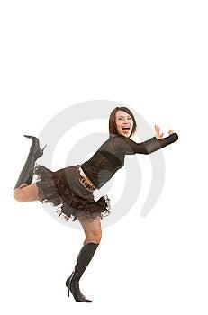 Menina Brincalhão Fotografia de Stock Royalty Free - Imagem: 8638147