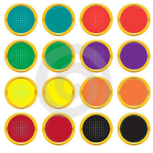 Set Of Buttons With A Gradient Grid Royalty Free Stock Image - Image: 8638166