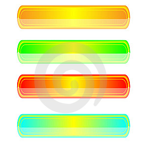 Four Web Buttons With Patches Of Light Stock Image - Image: 8638171
