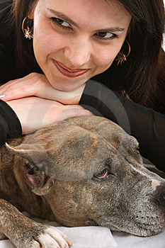Girl And Dog Royalty Free Stock Photography - Image: 8638287