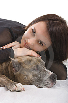 Girl And Dog Royalty Free Stock Photo - Image: 8638325