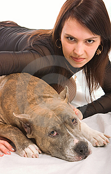 Girl And Dog Royalty Free Stock Photos - Image: 8638358