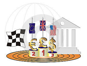 Currencys Race And The Great Viewer Stock Image - Image: 8638401