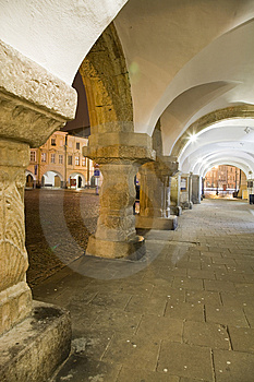 Arcade With Town Square Royalty Free Stock Photography - Image: 8638457
