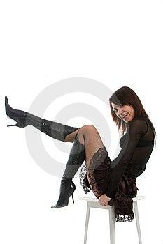 Spielerisches Mädchen Lizenzfreie Stockfotos - Bild: 8638478