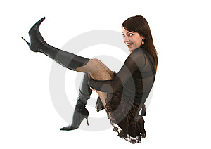 Spielerisches Mädchen Stockfotos - Bild: 8638523