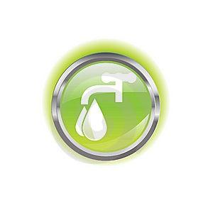Glowing Environmental Button Stock Photos - Image: 8638553