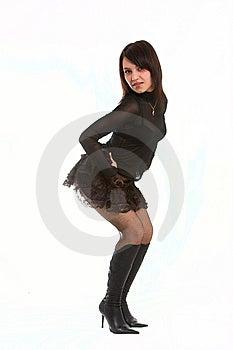 Spielerisches Mädchen Stockfoto - Bild: 8638560