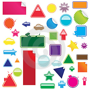 Stickers Set Stock Photography - Image: 8638602