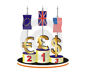Currency Race In Difficult Economic Times Royalty Free Stock Images - Image: 8638689