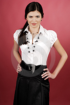 Woman In Studio Stock Image - Image: 8639011