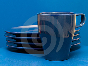 Blue Dishes Royalty Free Stock Photo - Image: 8639065