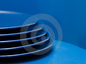 Stack Of Blue Plates Royalty Free Stock Photography - Image: 8639167
