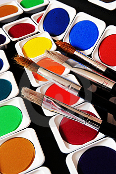 Brushes And Colors Royalty Free Stock Images - Image: 8639379