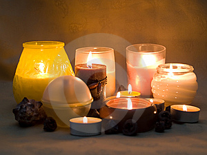 Aromatic Candles  3 Stock Photos - Image: 8639563