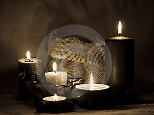 Aromatic Candles _sepia Royalty Free Stock Photo - Image: 8639615
