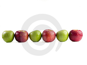 Seis Manzanas Imagen de archivo libre de regalías - Imagen: 8639696
