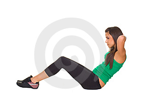 Young Beautiful Woman Exercise Stock Images - Image: 8640014
