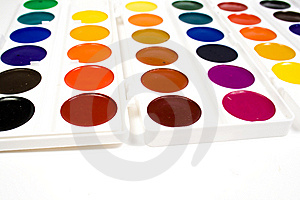 Bright Water Colour Paints Royalty Free Stock Photo - Image: 8640295