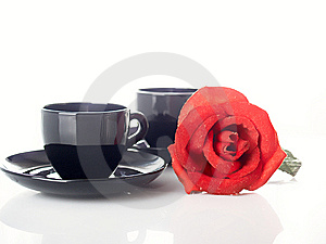 Rose And Cup Royalty Free Stock Photography - Image: 8640297