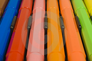 Children's Color Felt-tip Pens Royalty Free Stock Photography - Image: 8640527